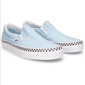 Vans x Urban Outfitters baby blue checkered Vans